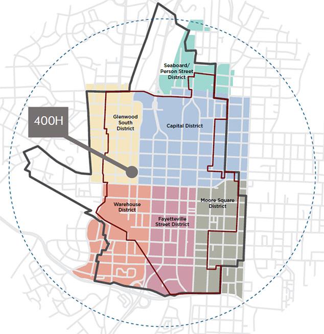 Illustration of 400H location map