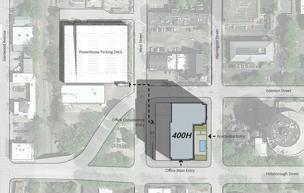 400H parking map