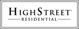 High Street Residential Logo - Black serif type inside double line box